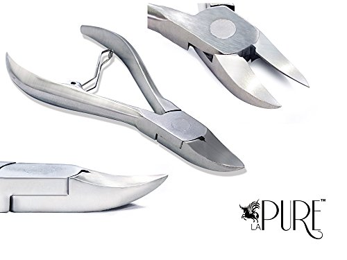 LA PURE Professional Heavy Duty Nail Clippers/Nippers for Thick and Ingrown Toenails – Premium Surgical Grade Stainless Steel – Podiatrist's Tool