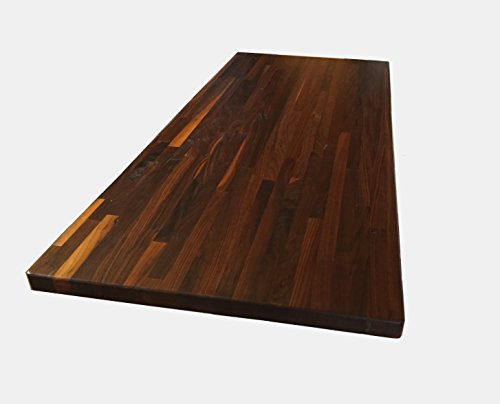 Solid Countertop Wood (Forever Joint Walnut Butcher Block Wood Countertop - 1.5