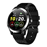 Fitness Tracker, Activity Tracker Watch with Heart Rate Monitor,Waterproof Sport Smart watch (Black)