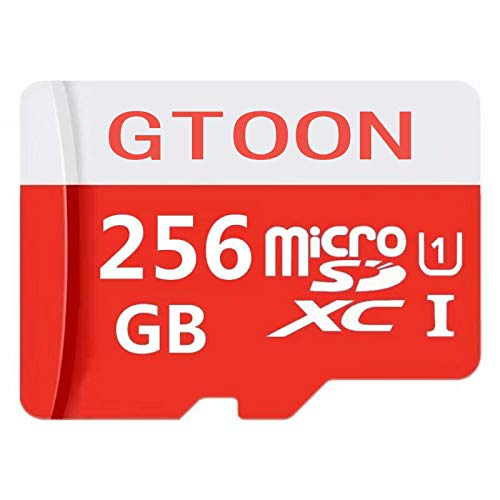 256GB Micro SD SDXC Memory Card High Speed Class 10 with Micro SD Adapter (256GB) by genericc