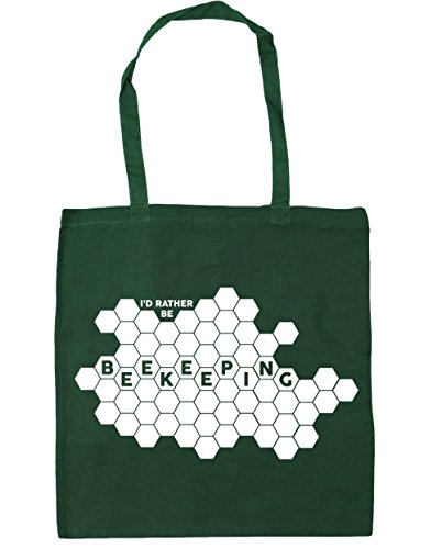 Be Shopping Tote Beekeeping 10 litres Beach x38cm Green Gym I'd 42cm Bag Rather HippoWarehouse Bottle EwXqxFpAS