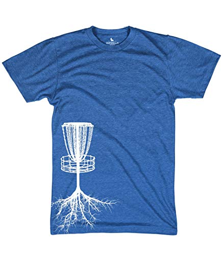 Guerrilla Tees Disc Golf Tree Roots Shirts Funny Sports Tshirts Blue