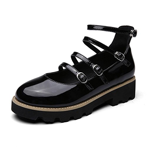 6110b7e7 Lovely HWF Zapatos para mujer Spring Shallow Mouth Zapatos individuales  Female British Style Zapatos de mujer