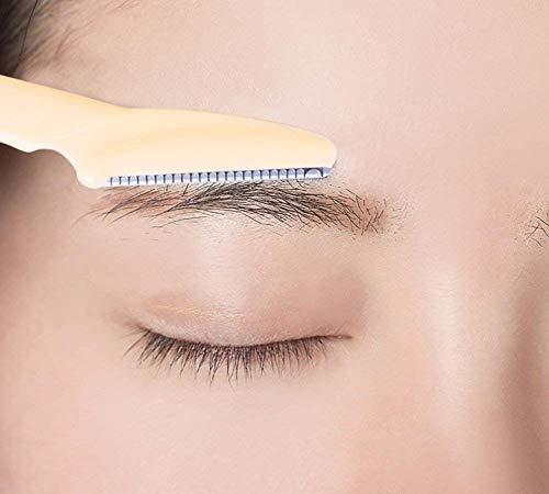KHODAL IMPEX 3 PCS Eyebrow Razor Kit, Face & Eyebrow Hair Shaper Razor Knife Shaver Trimmer Shaving Grooming Remover Kit for Fashion Women Ladies