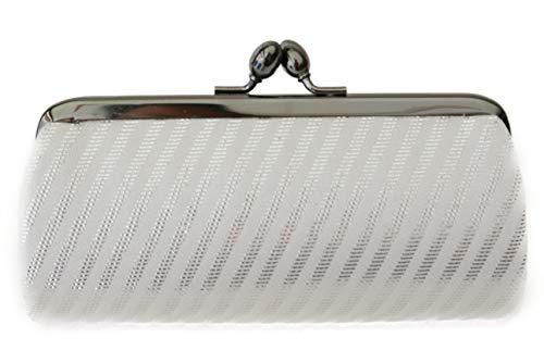 Oblique Stripe Pattern-A small clutch GAMAGUCHI, Nishijin KINRAN