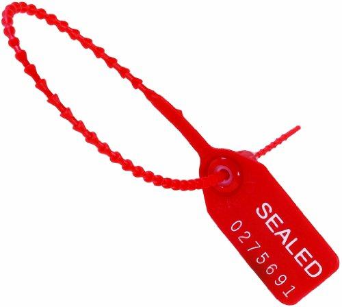 Aviditi-SE1008-Tug-Tight-Pull-Tight-Seals-12-Red-Pack-of-100