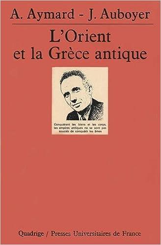 L'Orient et la Grèce antique epub pdf