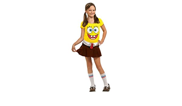 Bob Esponja SpongeBob - Disfraz de Halloween para niña, talla M ...
