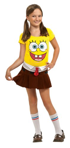Spongebob Characters Costumes (SpongeBob Squarepants Spongebabe Costume - One Color - Large)