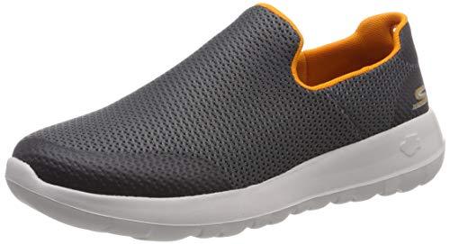 charcoal Hombre Cordones Para Skechers Ccor Orange Go Max Walk Sin Zapatillas Gris 0zwRq