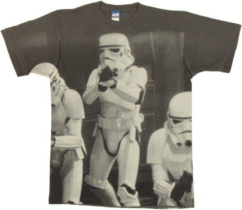 Mad Engine Men's Open Doors-Aop T-Shirt, Charcoal, ()