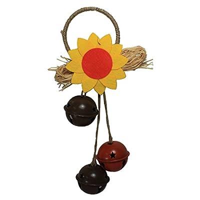 Sunflower Door Hanger with Bells