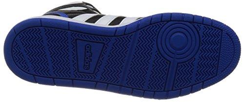 Adidas - Hoops Team Mid - F99601 - Couleur: Bleu-blanc-noir - Taille: 39.3
