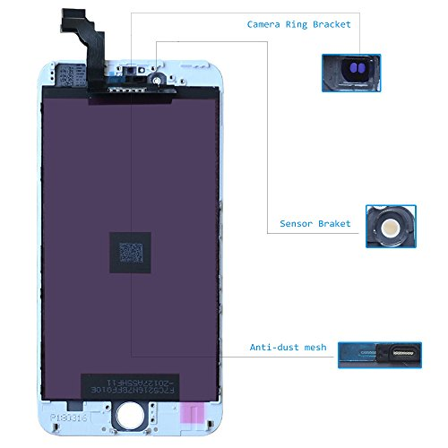 LCD Screen Replacement for iPhone 6 Plus 5.5'' White- GAVATE39 Digitizer for iPhone 6Plus with 3D Touch, Include Free Repair Tools kit & Detailed Instructions by GAVATE39 (Image #1)