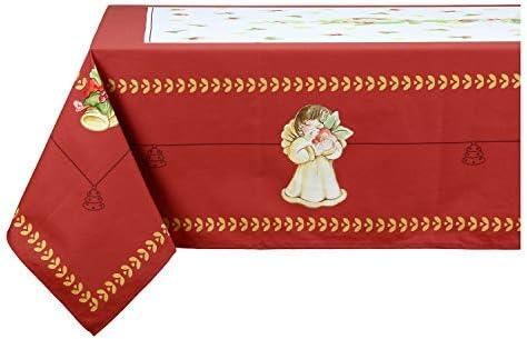 THUN – Tovaglia 12 Posti con Decorazioni Natalizie – Accessori Cucina – Linea Dolce Natale – 100% Cotone – 250 x 180 cm