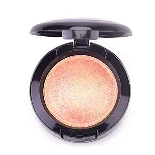 Mallofusa Single Shade Baked Eye Shadow Powder Palette Glitter Makeup Kit in Shimmer 15 Metallic Colors (Rose Pink) 8g/0.28oz
