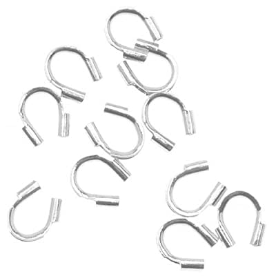 Beadaholique 50-Piece Wire and Thread Protectors, 0.019-Inch, Silver by Beadaholique