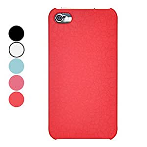 Bkjhkjy Crack Texture Style PC Hard Case with Interior Rubber Printed for iPhone 4/4S (Optional Colors) , Black