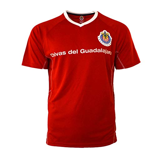 (RhinoxGruop Chivas Soccer Training Jersey Performance FMF Customized Any Name (M, Red Letters))