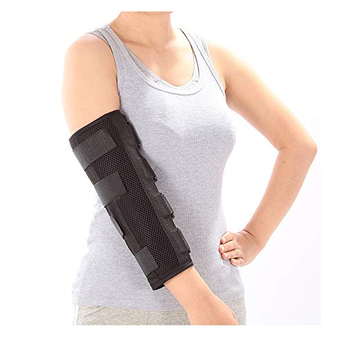 Elbow Support Brace for Cubital Tunnel Syndrome Night Splint Adults Arm Elbow Splint Immobilizer Brace for Ulnar Nerve Entrapment Broken Stabilizer Restraints Wrap (Medium)