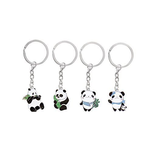 Cute Panda Keychain (5 Pack) - Exclusive Metal Keyring Design from The Emperor of Gadgets Emperor of Gadgets®