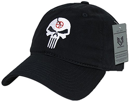(Rapiddominance Relaxed Graphic Cap with Punisher Skull, Black)