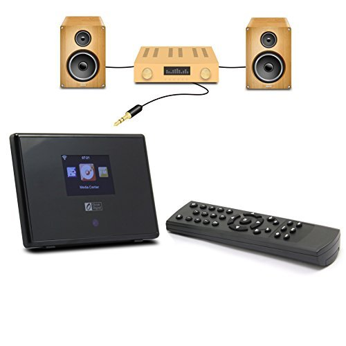 Ocean Digital WiFi Internet Radio Adapter Tuner Receiver IRT01C Wireless Connection Desktop Media Player Alarm Clock- Black by Ocean Digital (Image #4)