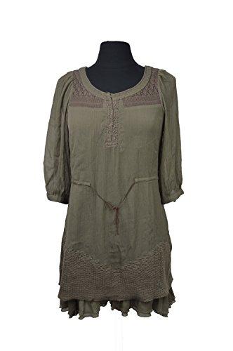 Free People Women's 'Wild Horse' Crinkled Chiffon Dress Toast Medium (brown)