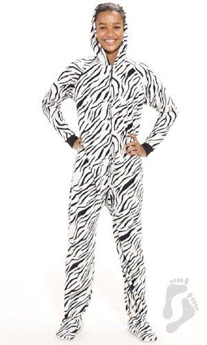 Footed Pajamas Zebra Stripes