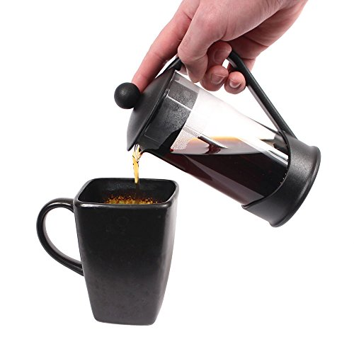 Clever Chef French Press Coffee Maker, Maximum Flavor Coffee Brewer with Superior Filtration, 2 Cup Capacity, Black