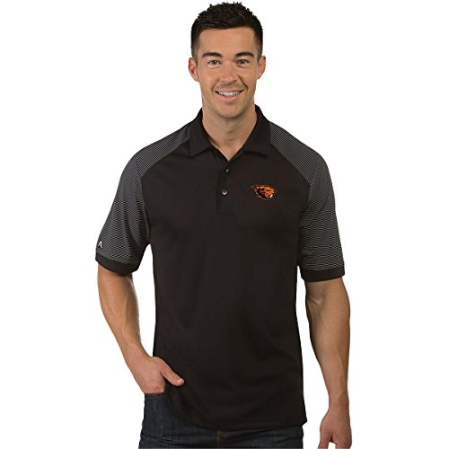 Antigua NCAA Oregon State Beavers Men's Engage Polo Shirt Black/White