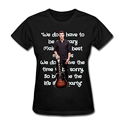 ZUN Shawn Mendes Tour 2016 Cotton O-Neck T Shirt For Womens Black
