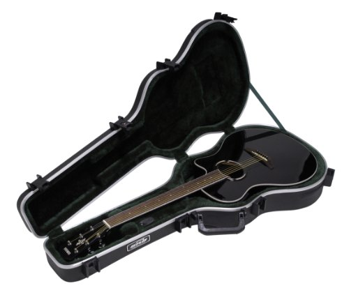 SKB Thin-line Acoustic-Electric/Classic Shaped Hardshell - TSA Latch, Over-Molded Handle