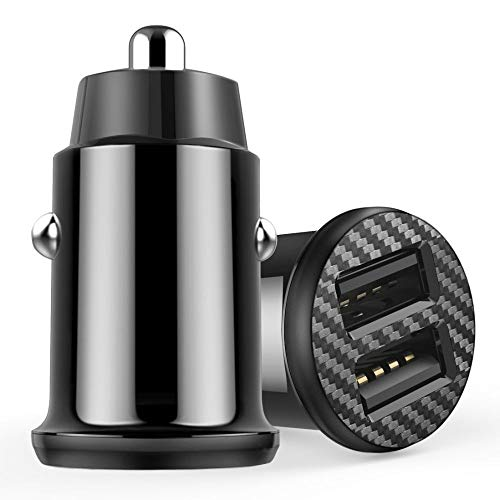 LAPOPNUT Car Charger 5V/3.1A Car Adaptor With Mini Size Dual Port High Speed Smart Charging Phone Fast Charging Adapter…