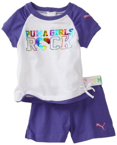 PUMA   Kids Baby Girls' Reglan Tee And Jersey Short Set