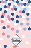"GM&Co: Notebook Journal Dot-Grid, Lined, Graph, 120 pages 5.5""x8.5"": Hexagon Confetti Pink (Confetti Notebook)"