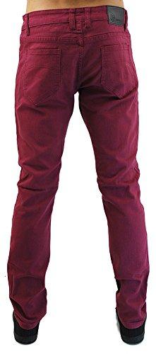 Kayden K Men's Twill Skinny Jeans Sangria Red-32x32