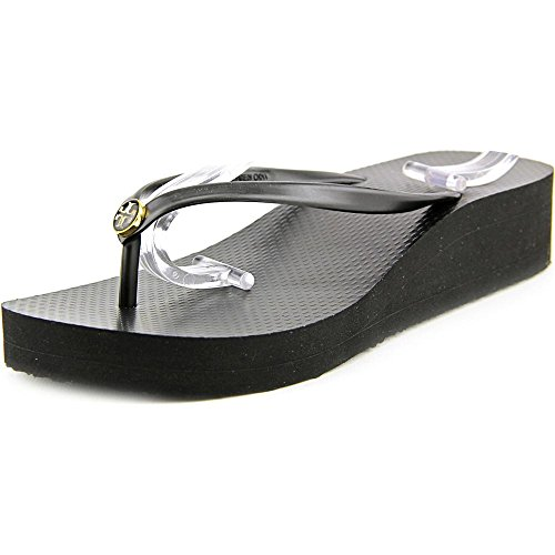 Tory Burch Women's Wedge Thin Flip Flop Black/Black 7 M by Tory Burch
