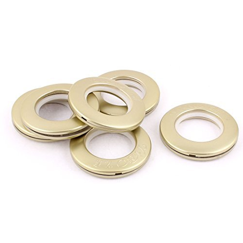 DealMux 40mm Color champán de plástico Cortina Ojales Anillos Clips Grommets 6pcs