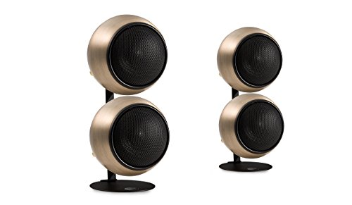 Orb Audio Mod2X QuickPack - Satellite Speakers and Desk Stand, Hand Antiqued Bronze by Orb Audio