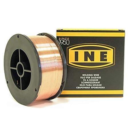 Alambre de soldadura acero 0,8 mm, 700 g, soldadura mig-mag semiautomática en bobina para soldar de alambre de acero sin revestimiento: Amazon.es: ...