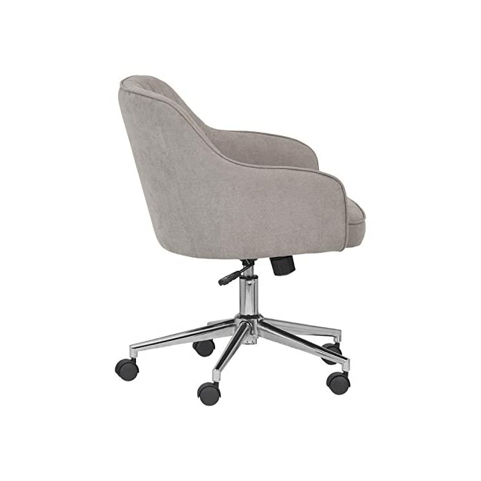 Amazon-Brand--Rivet-Modern-Upholstered-Swivel-Office-Chair-25W-Gray