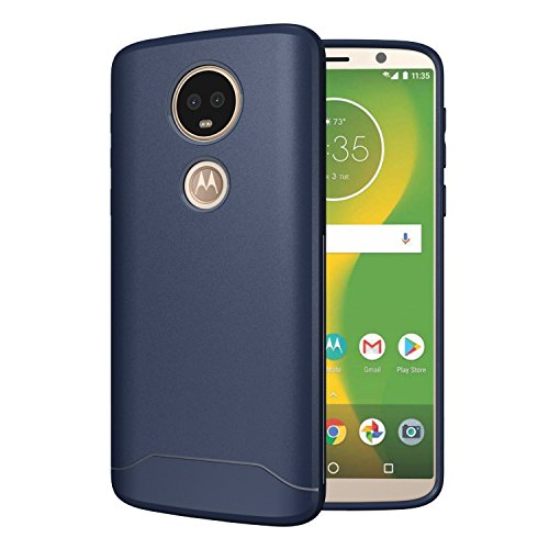 Moto E5 Plus Case, TUDIA [Arch S Series] Lightweight Enhancement Grip Heavy Duty Extreme Protection/Rugged with Ultra Slim Fit Shock Absorption Phone Cover for Motorola Moto E5 Plus - Navy Blue