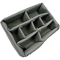 Grey padded divider set to fit Pelican 1400. Dividers and lid foam.