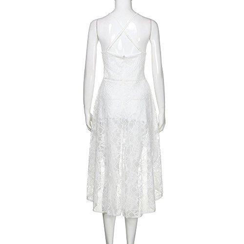 Vaina Vestidos Cordón Sexy de Blanco Vestidos Mujer Fiesta túnica Elegante Mujer Casual Vestido Ropa Vestir y Mujeres Club Camisa de para Vestido Cremalleras Playa Verano 2018 Corto Sexy IwHIqOrR