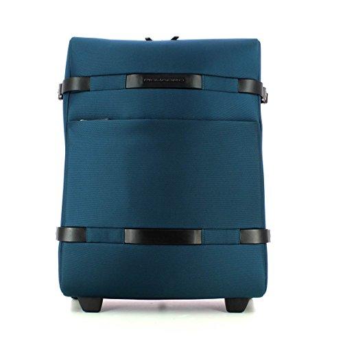 Piquadro Move 2 Trolley, Sintetico, Blu, 38 Litri, 55 cm
