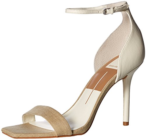 Dolce Vita Women's Halo Heeled Sandal Natural Multi Linen