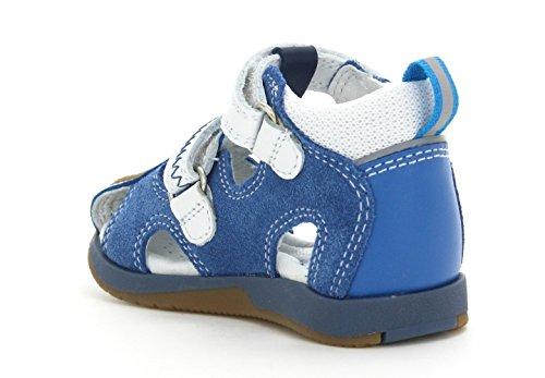 Bartek Boys Leather Fisherman Ortho Sandals 81772//1E Navy Blue Infant//Toddler