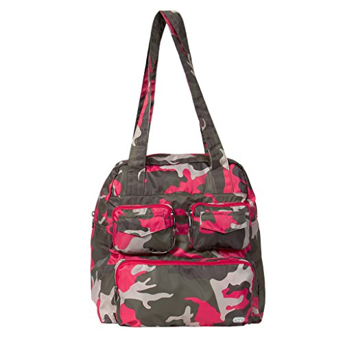 Lug Women's Puddle Jumper Travel Duffle Duffel Bag, Camo Pink, One Size