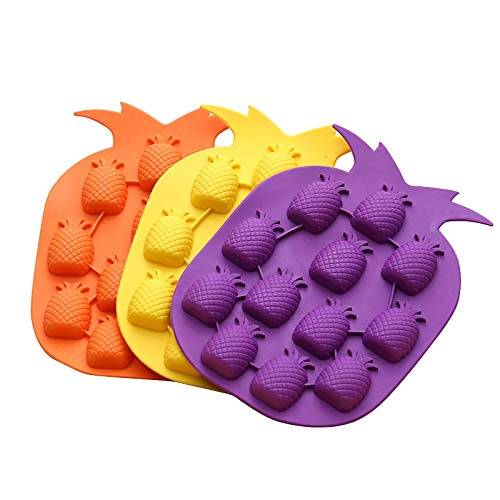 Ice Cream Makers - Pineapple Shape Ice Cube Tray Silicone Molds Maker Bar Party Wine Drink Decor Moule Glace - Tray Ice Cream Ice Mold Maker Roll M Ice Ice Drink Ice Cream Ice Cream Flavor Soft (Flavour Soft Drink)